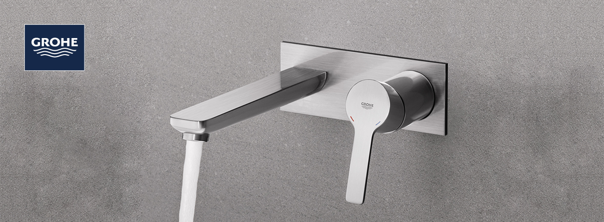 Wall-Mounted Basin Taps from GROHE at xTWO